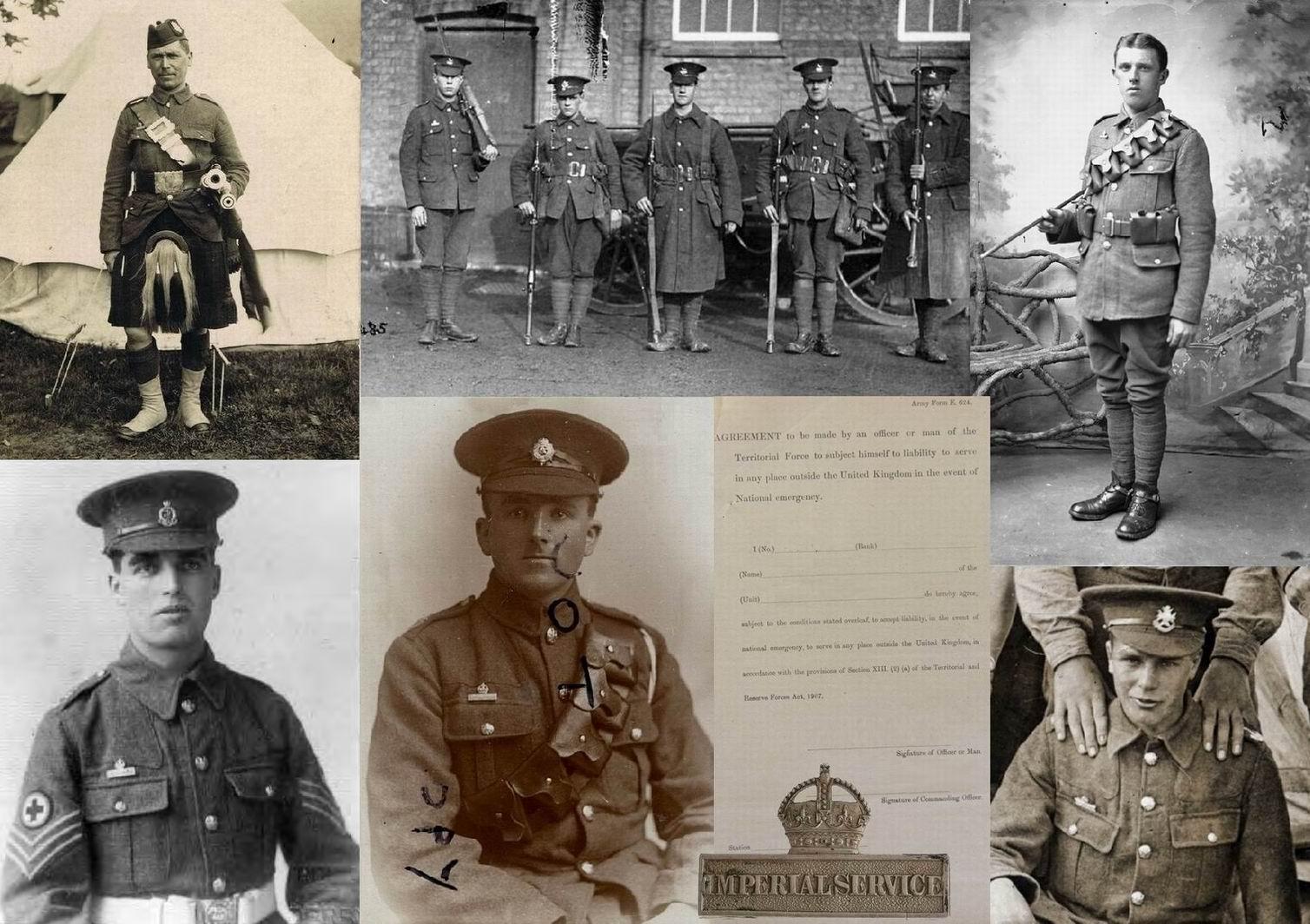"""До войны планировалось, что в территориальном батальоне должно быть от 16% до 25% солдат, готовых для заморской службы. С униформологической точки зрения — подписавшие обязательство гордо носили над правым карманом значок """"Имперской службы""""."""