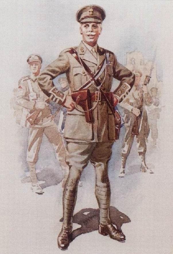 Подполковник Королевских Иннискилингских фузилеров, начало Первой мировой войны.