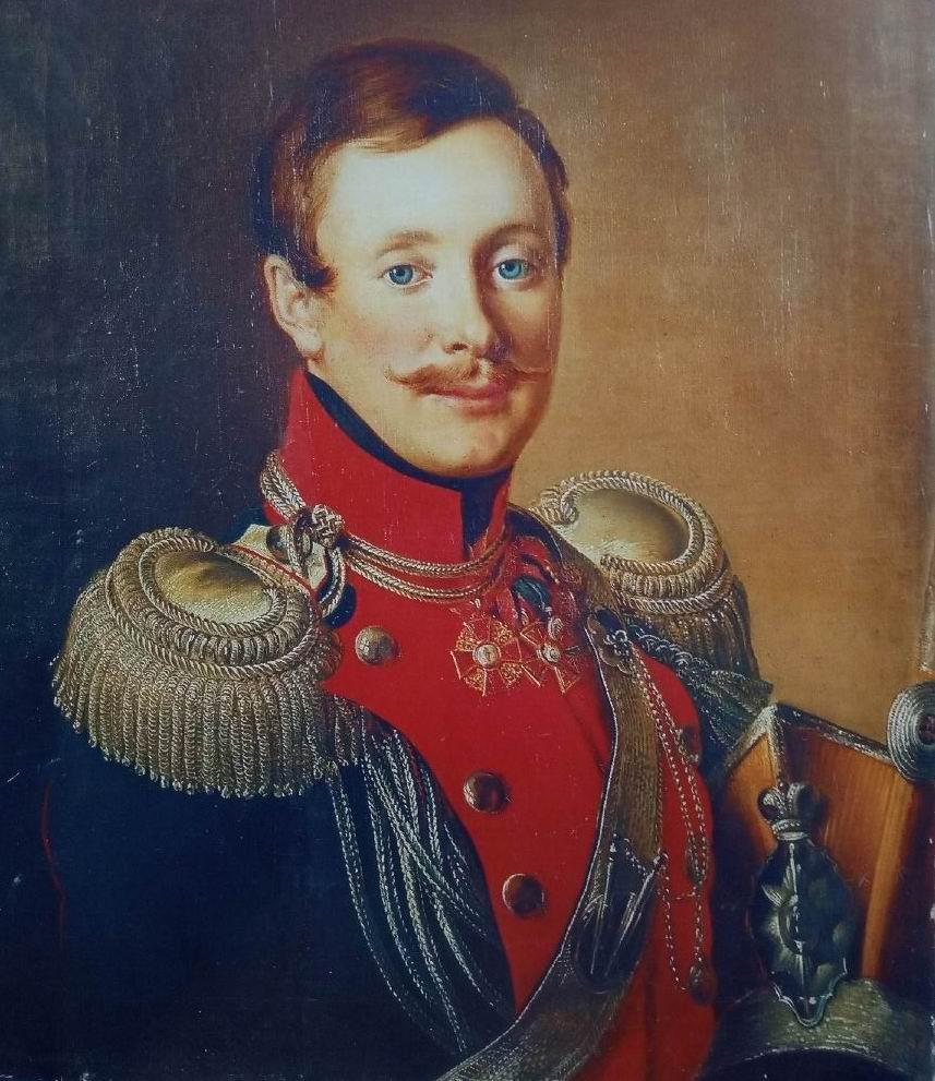 Неизвестный штаб-офицер Оренбургского уланского полка, 1819-1825гг. Худ. предположительно В.А.Тропинин.