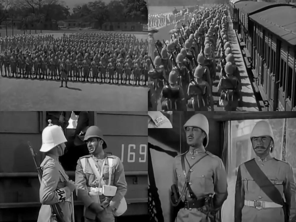 Масштабы съемок впечатляют. Внизу — военный полицейский и очередной сержантский шарф, шифровка на погонах.