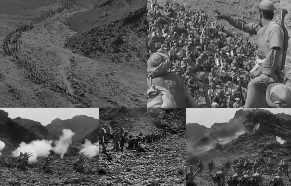 """Масштабы съемок впечатляют. Создатели фильма даже хвастались, что снимали в настоящем """"Хайберском проходе, Индия"""". Но в 1953г. это был уже Пакистан."""
