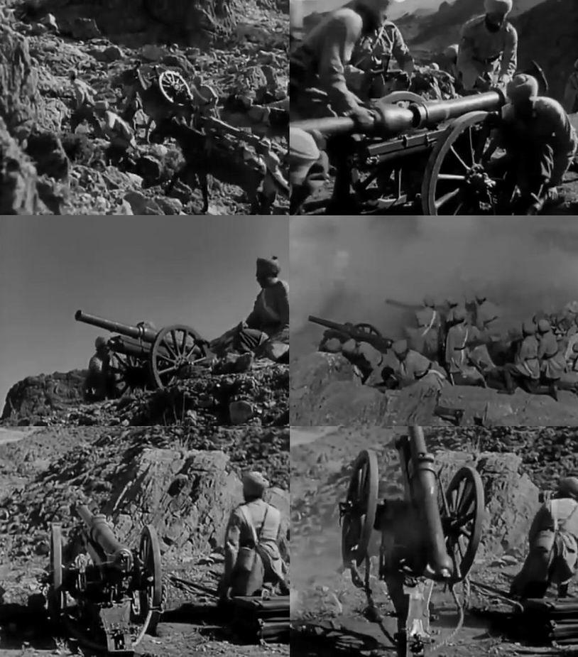 """Индийская горная артиллерия — знаменитые """"свинчиваемые пушки"""", воспетые Киплингом. Особенно впечатляет подпрыгивание и отдача при выстреле."""