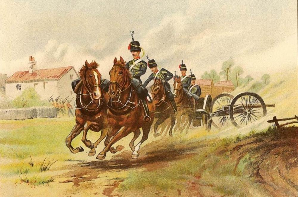 Королевская конная артиллерия, около 1890г.
