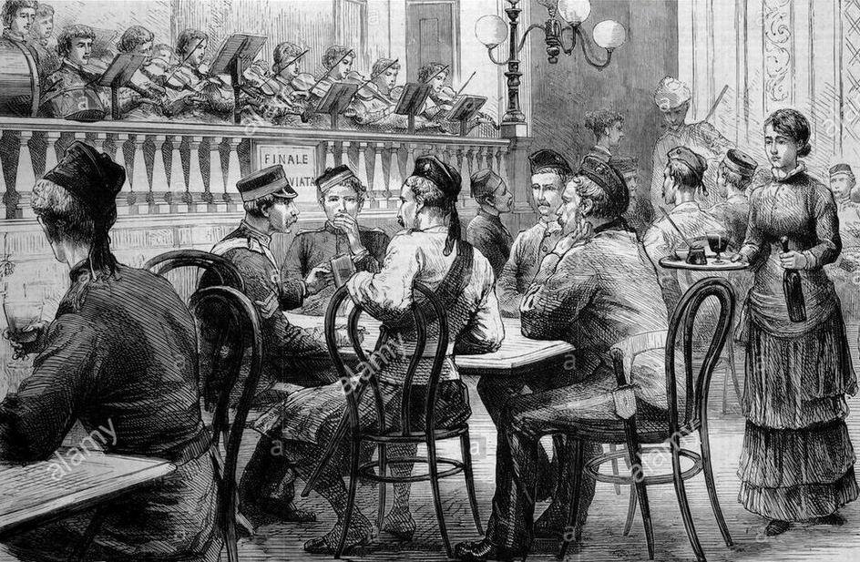 """В ресторане после Египетской кампании"""", 1883г."""