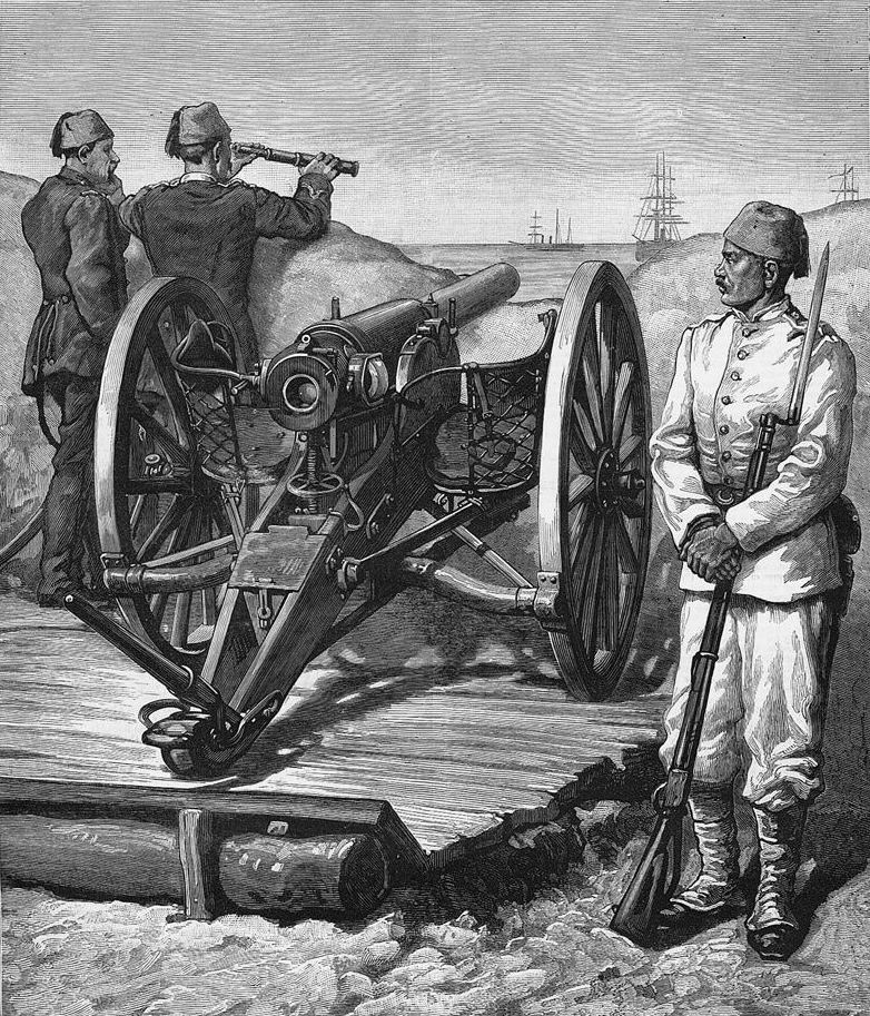 Египетская пушка Круппа, Александрия, 1882г.