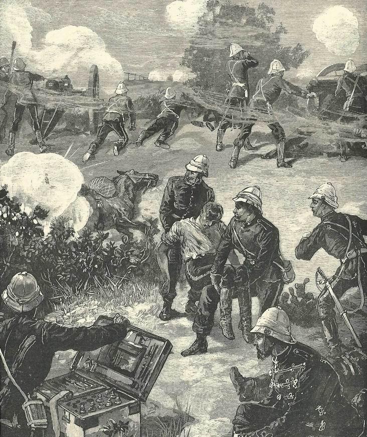 9-фунтовки Королевской конной артиллерии в бою, Египет, август 1882г.
