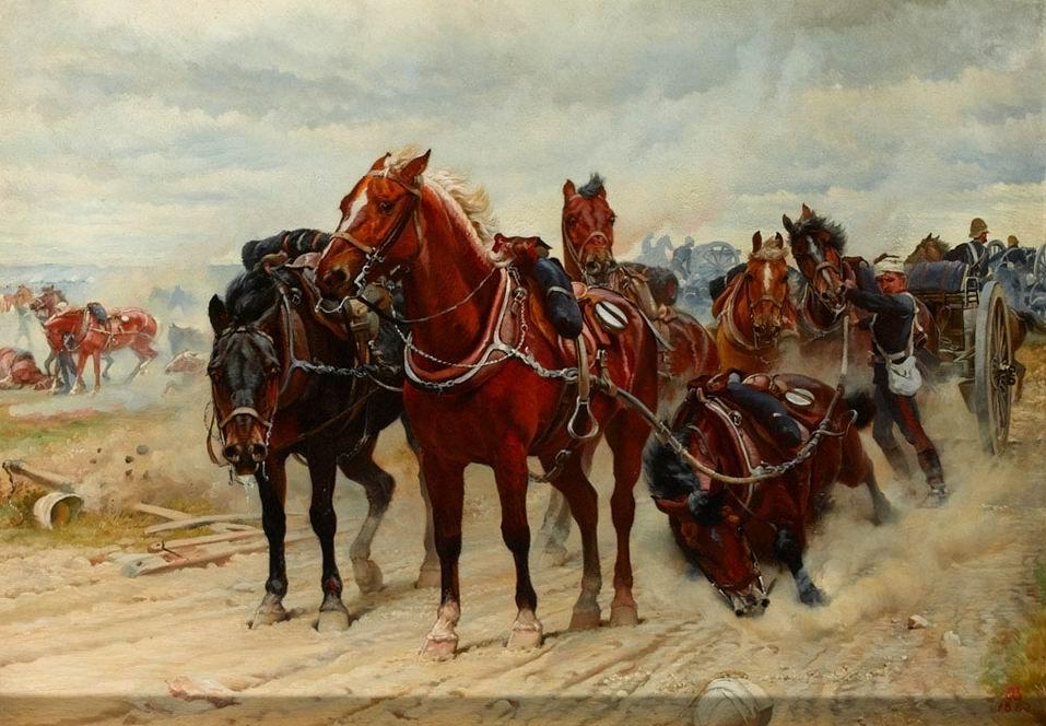 Королевская конная артиллерия (предположительно в Египте). Худ. Э.Томпсон, леди Батлер, 1882г.