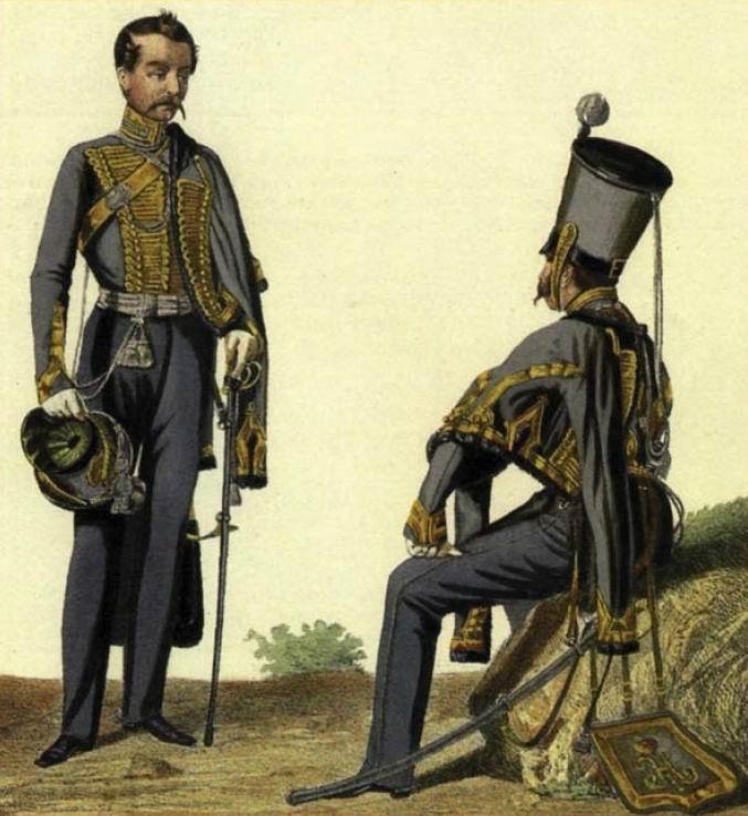 Офицеры Елисаветградского гусарского полка, 1825-28гг.