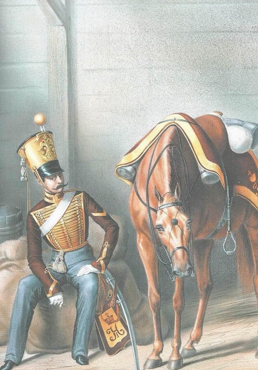 Унтер-офицер Ахтырского гусарского полка, 1833г.