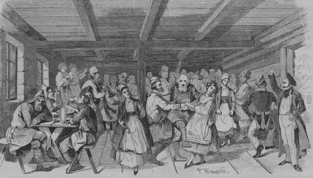 Танец в корчме, 1850е гг.