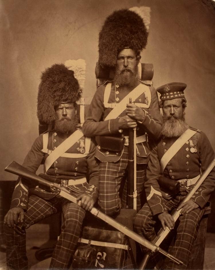 72й (Собственные герцога Олбани хайлендеры) пеший полк, 1856г.