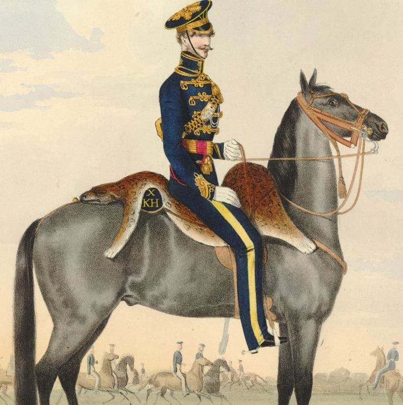 Офицер 10го гусарского полка, 1835г.