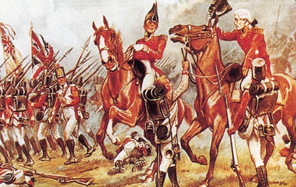 Однако еще в 1809г. подполковник Ч. Доннелан из 48го пехотного пал при Талавере, одетый как офицер прошлого века с напудренными волосами.