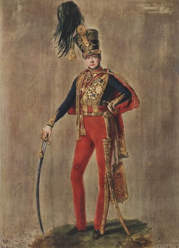 Худ. А.Ж. Дюбуа-Драгоне. Полковник 10го гусарского полка, 1832г.