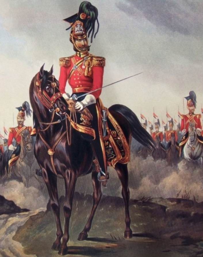 16й уланский полк, 1845г. Все от командира до рядовых с аккуратными стильными усами.