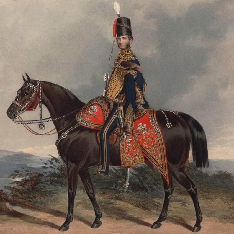 Полковник 10го гусарского полка, 1843г. Вновь старший офицер — не поклонник усов даже при гусарской форме.