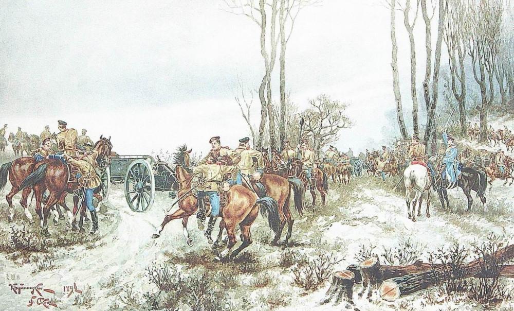 Лейб-Гвардия Конная артиллерия на маневрах, 1894г.