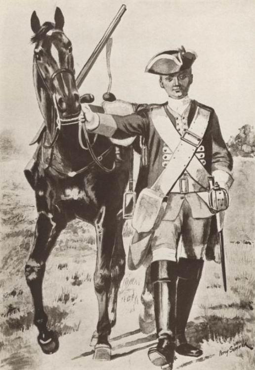 Рядовой 8го драгунского полка, 1742г.
