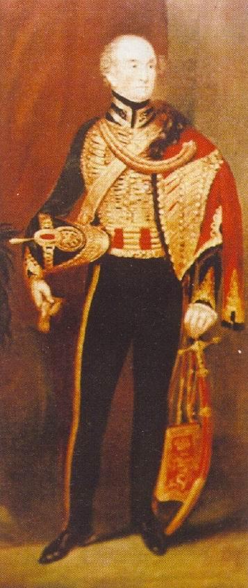 Подполковник достопочтенный Генри Вестенра. Портрет написан скорее всего в 1830е гг, так как бывший командир ирландских гусар изображен в алом ментике, введенном в 1831г.