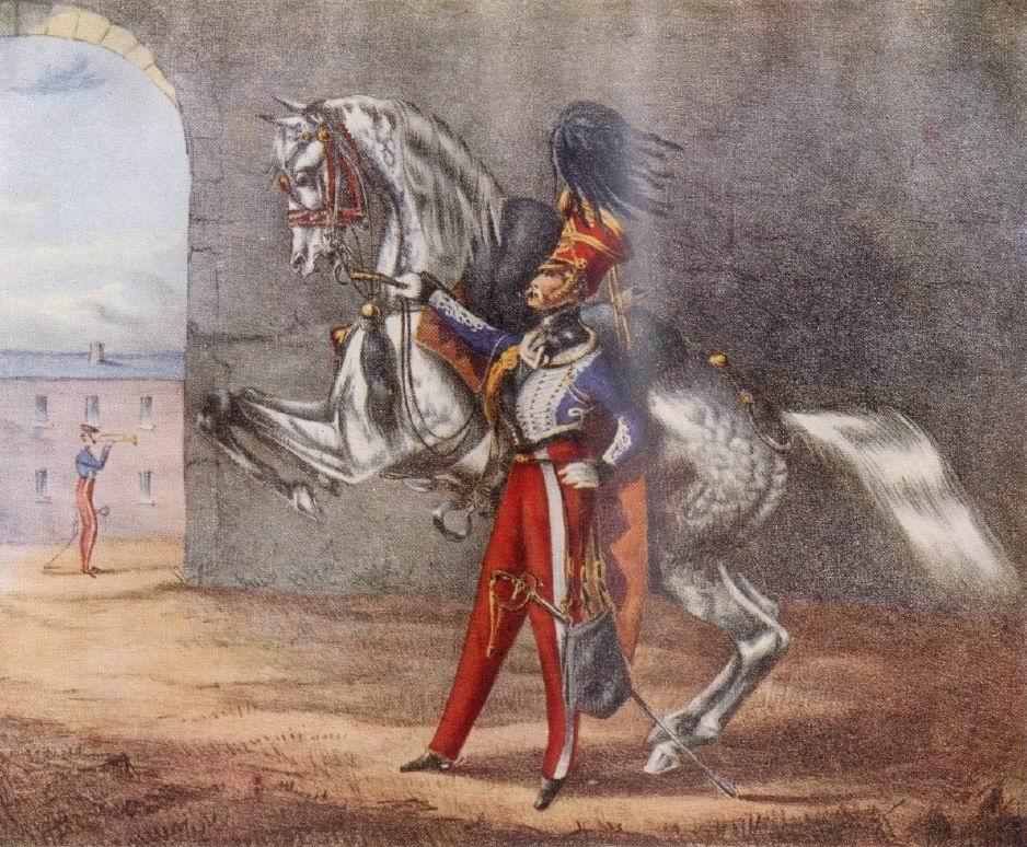 Офицер 15го гусарского, около 1827г.