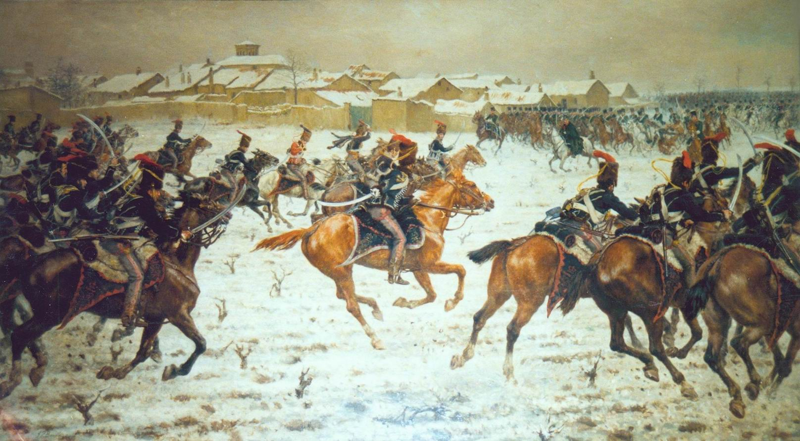 Худ. Д.П.Бидл. 15й гусарский полк при Саагуне 1808г.