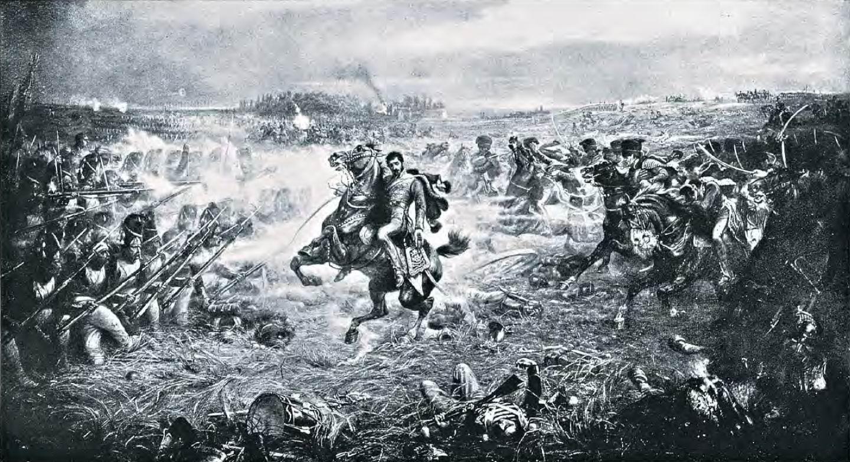 Капитан Таквелл возглавляет последнюю атаку 15го при Ватерлоо.