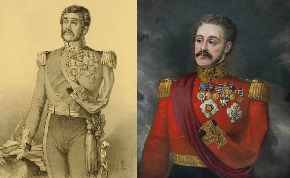 Сэр Джозеф Таквелл (1781-1859), тот самый капитан, возглавлявший атаку полка при Ватерлоо. Руку после того ранения пришлось ампутировать. Впоследствии генерал-лейтенант, генерал-инспектор кавалерии.