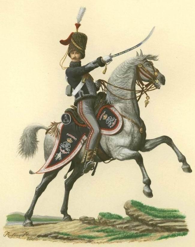 Офицер 15го гусарского полка, 1810г.