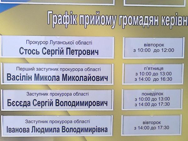 прокурор Луганской области
