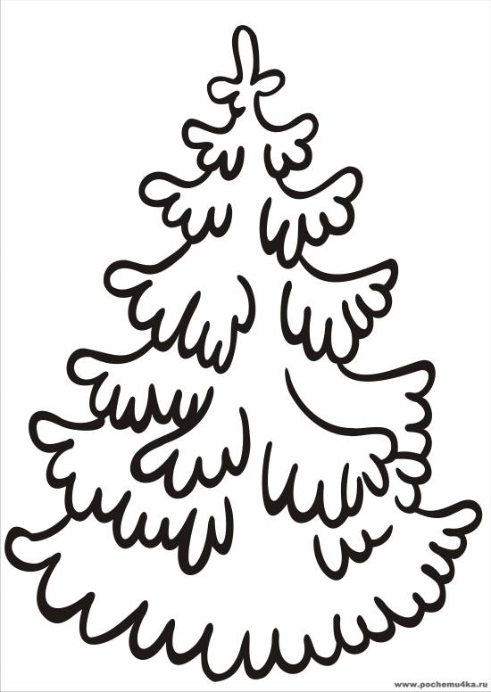 Елочка в снегу раскраска