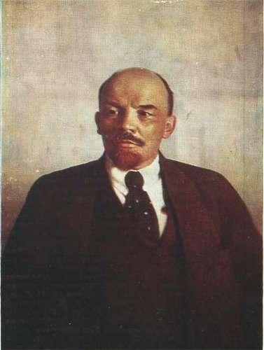 Ленин В И портрет работы Пархоменко 1921
