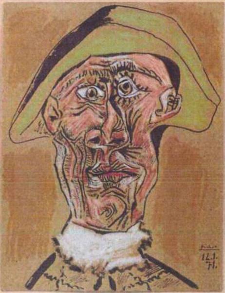 Голова арлекина (1971) Пабло Пикассо