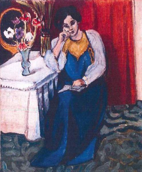 Читающая девушка в белом и желтом (1919) Анри Матисс