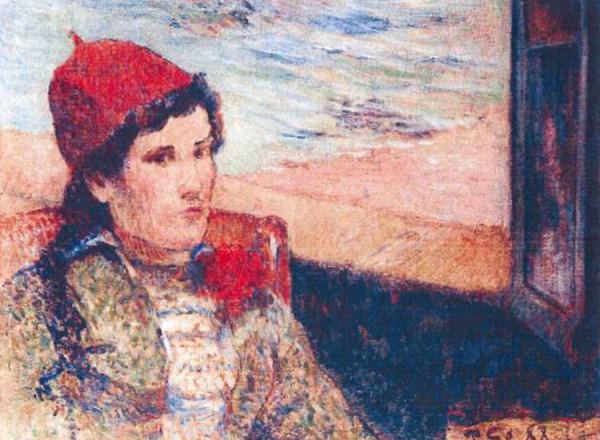 Девушка перед открытым окном (1898) Поль Гоген