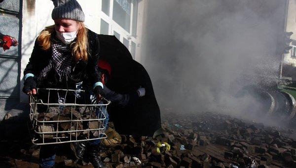 Беспорядки в Киеве у здания Верховной рады