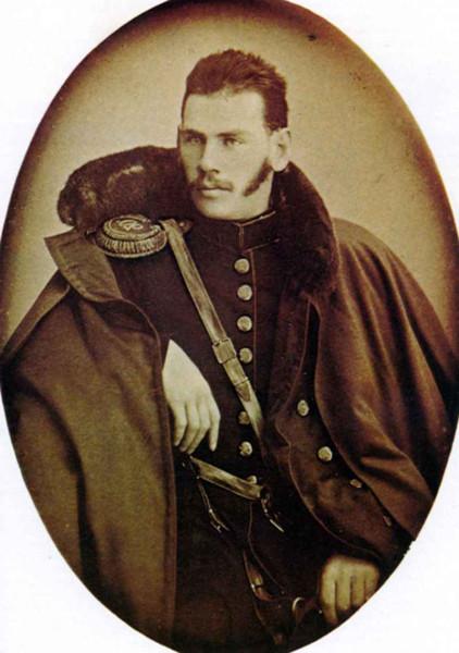 47 Л.Н. Толстой. 1854 г. Переснимок дагерротипа