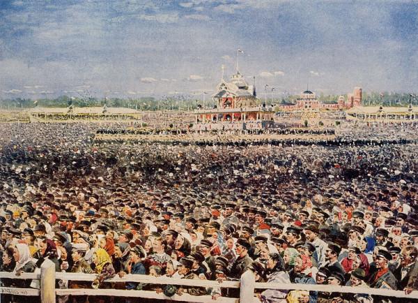53 Ходынка. Владимир Маковский. 1899 г. Акварель