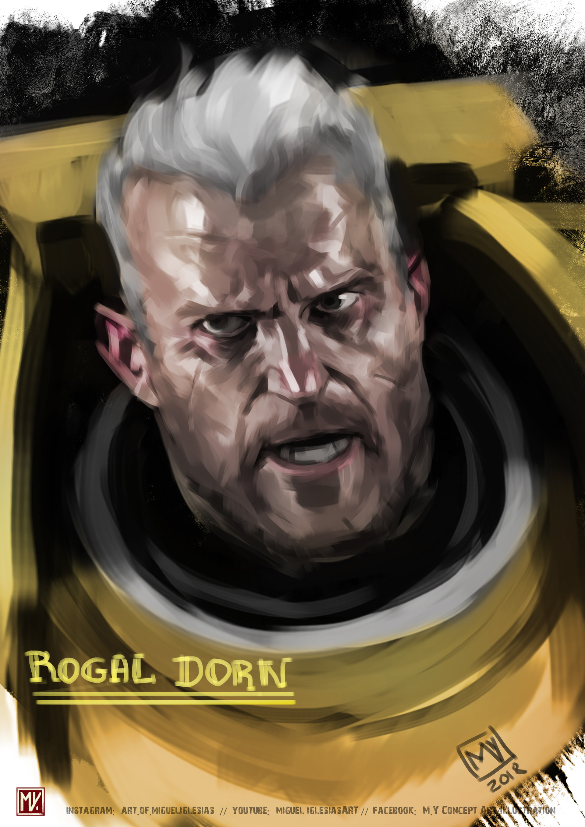 7 - hs7362B - Rogal Dorn, Primarch of the Imperial Fists