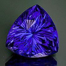Fine Tanzanite blue violet gem with American Cut