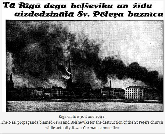 Riga on fire 30 June 1941.