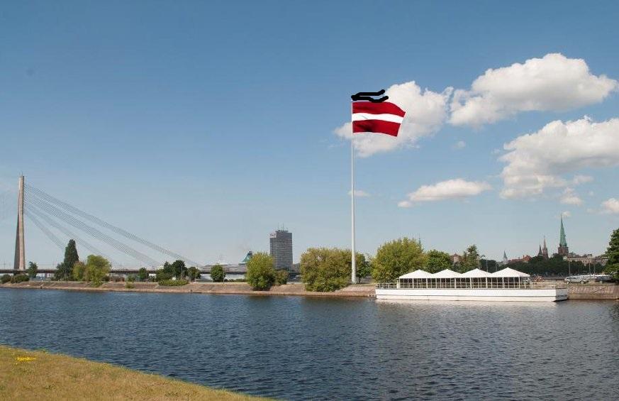 флаг на дамбе АБ