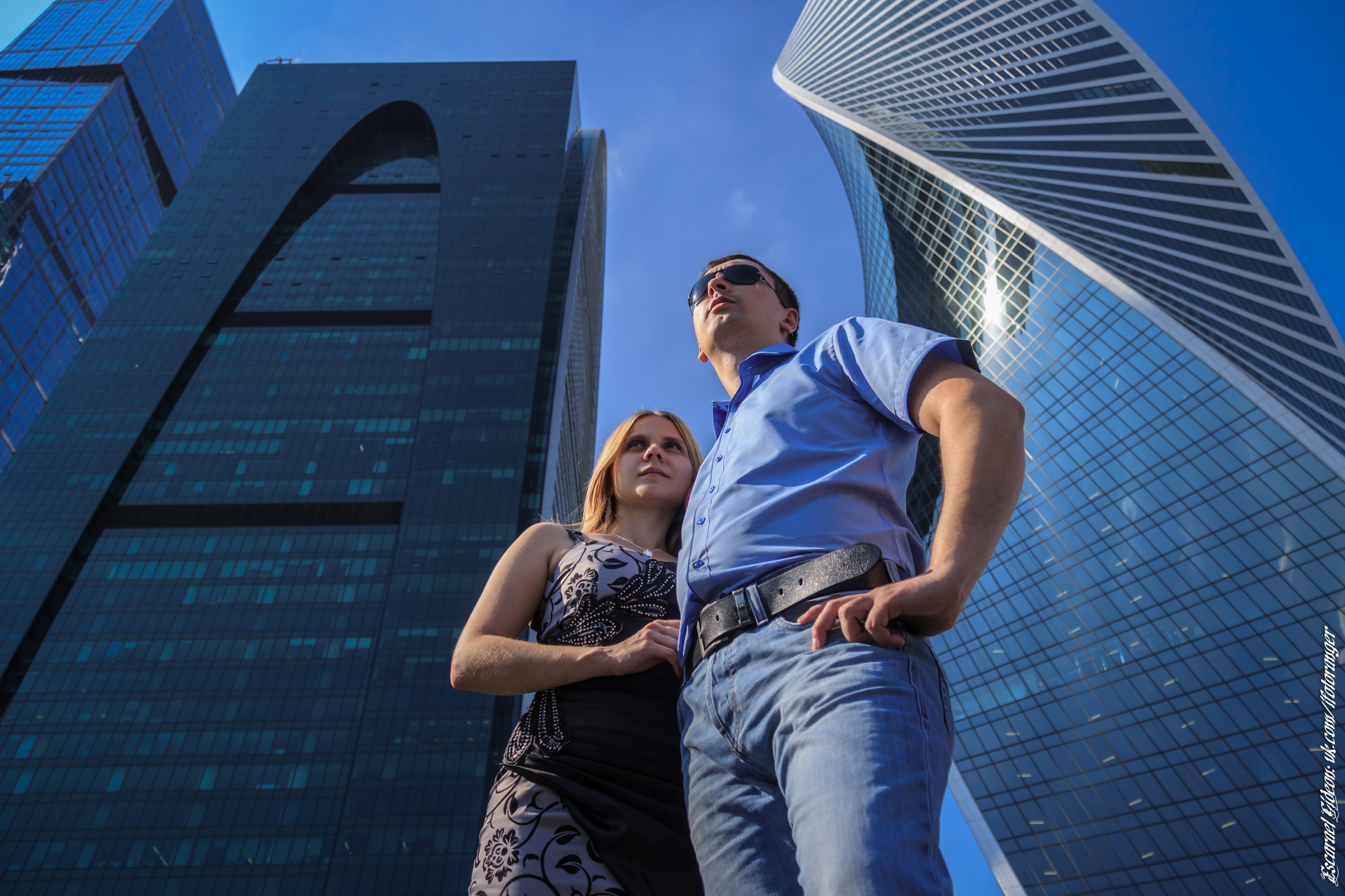 Настя и Дэн. Москва-сити. Фотосессия.
