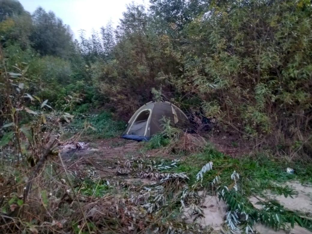 Лагерь у реки Ока