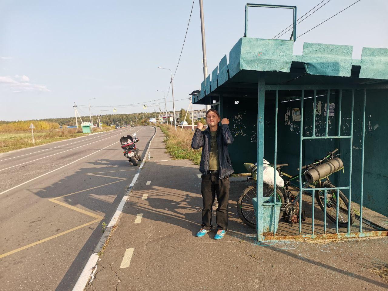 На остановке в Таобушево