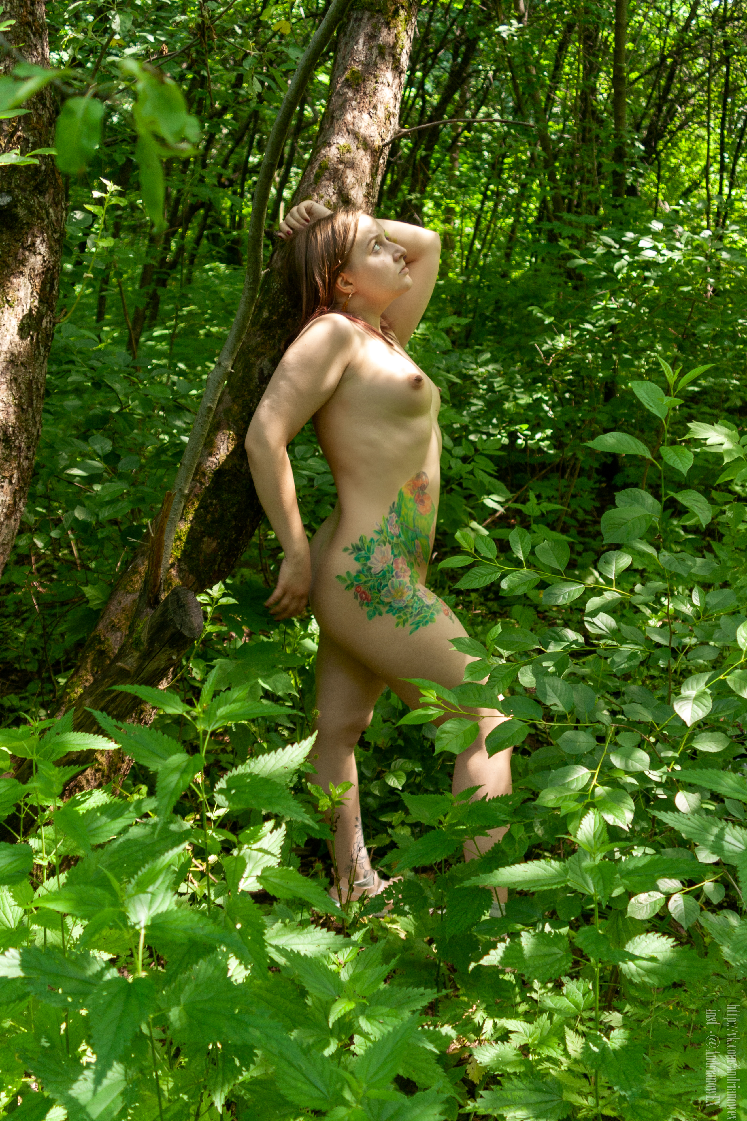 Fear, nature, naked.