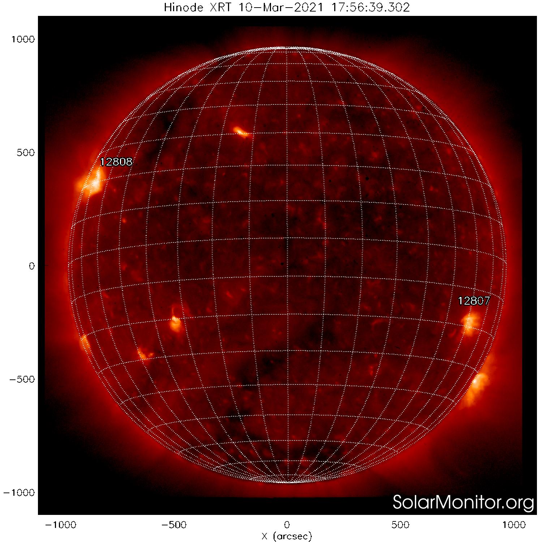 Солнце в мягком рентгеновском излучении 10 марта 2021