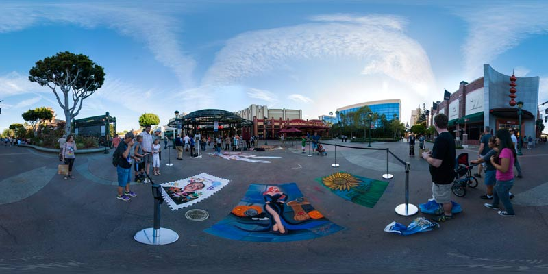 Disneyland Art Chalk Festival in Anaheim