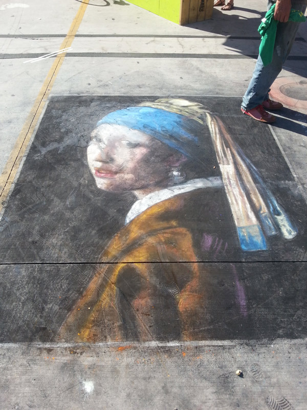 Street painting in Canada