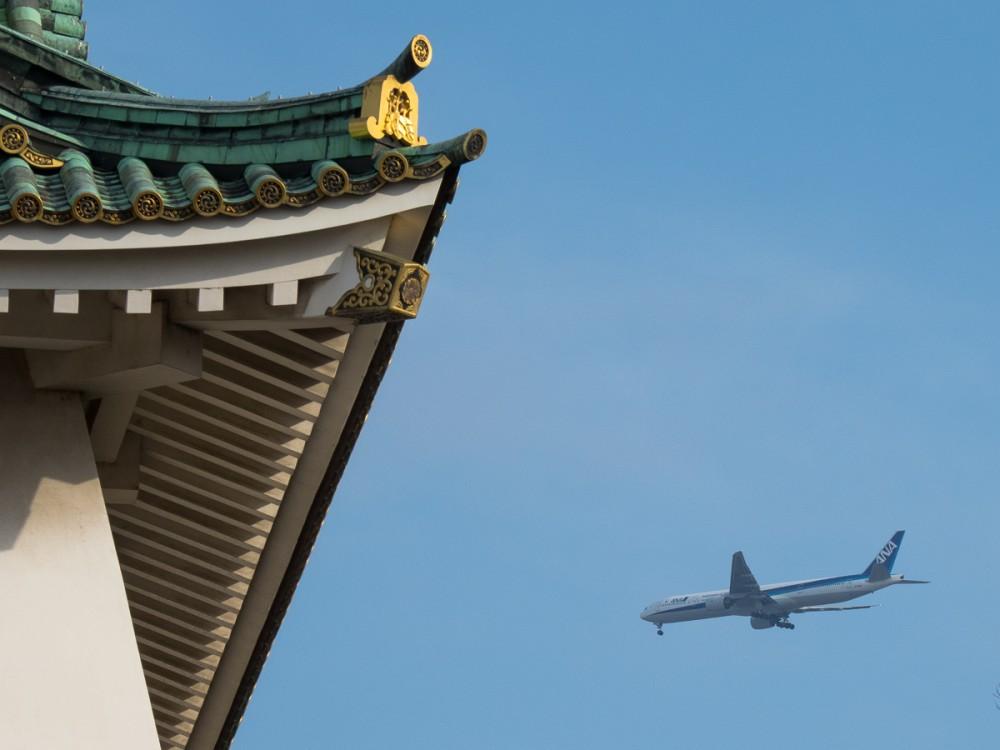 Незамысловай споттинг борта на посадке в Кансай. Кстати, В Кансае я был как-то. летел из Сеула летел