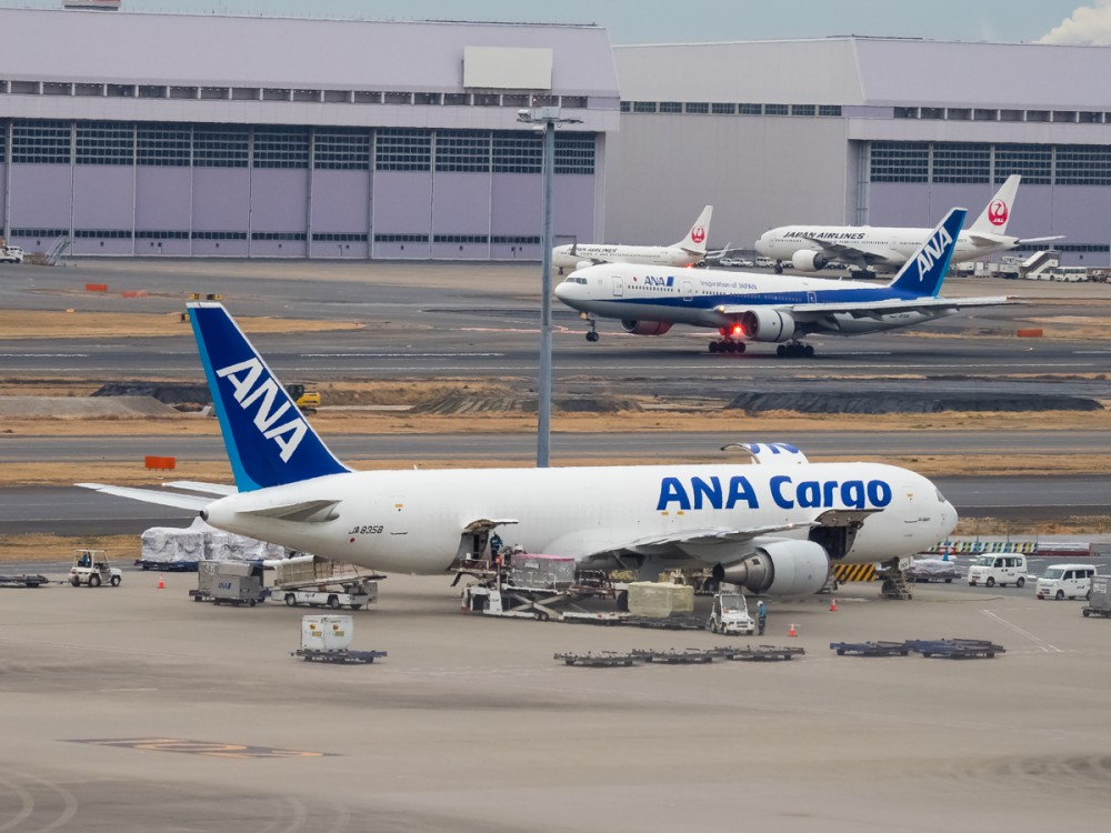 767 грузовик от ANA был баяном поездки. Везде попадался